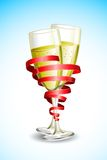 Champagne Glass with Ribbon Royalty Free Stock Image