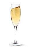 Champagne glass with splash Stock Photos