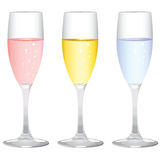 Champagne glass vector Stock Photography