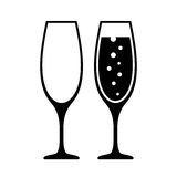 Champagne glass vector icon Stock Photos