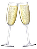 Champagne Glasses. Realistic  illustration of champagne glasses created with gradient mesh Stock Photo