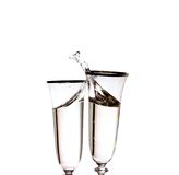 Champagne in a glasses Royalty Free Stock Photos