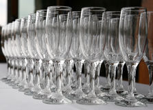 Champagne glasses. A background of champagne glasses Stock Image