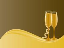 Champagne glasses. Pair of champagne glasses for celebration Stock Photo