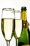 Champagne glasses Stock Images