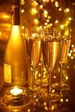 Champagne in glasses Stock Image