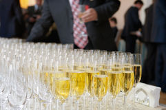 Champagne glasses. Royalty Free Stock Photography