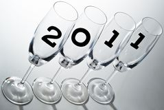 Champagne glasses 2011 V5 Royalty Free Stock Images