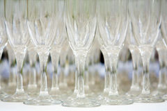 Champagne glasses. Wedding  decorative glasses Stock Photos