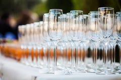 Champagne glasses Stock Photo