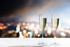 Champagne Glasses Images stock