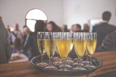 Champagne glasses  Stock Photography