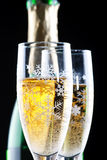 Champagne in glasses Stock Images