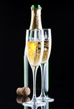 Champagne in glasses Stock Photos