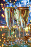 Champagne in glasses. Stock Photography