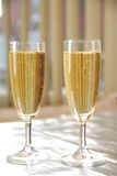 Champagne in glasses. Stock Images