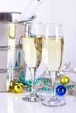 Champagne glasses with bubbles Stock Photography