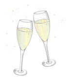 Champagne glasses. Colorful champagne glasses, new years eve Royalty Free Stock Photos