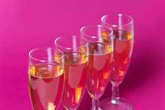 Champagne in the glasses, a festive decoration Royalty Free Stock Images
