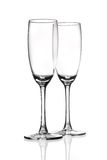 Champagne glasses flutes stock images