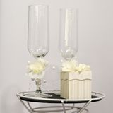Champagne glasses and gift box Royalty Free Stock Image