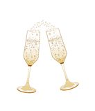 Champagne glasses.Golden wedding celebration Royalty Free Stock Photo