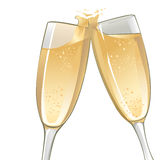 Champagne Glasses. An illustration of two champagne glasses to toast Royalty Free Stock Photography