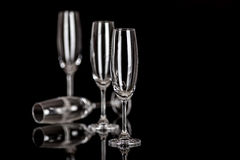 Champagne glasses isolated on black Stock Image