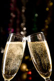 Champagne Glasses Making Toast Stock Photo