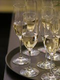 Champagne glasses many Stock Image
