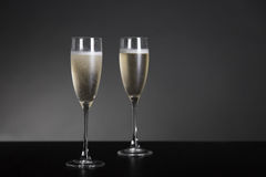 Champagne glasses for New Year and holidays Stock Photo