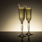 Champagne glasses for new year's eve Royalty Free Stock Images
