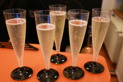 Champagne glasses at the party Stock Image