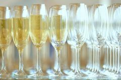 Champagne in glasses Royalty Free Stock Image