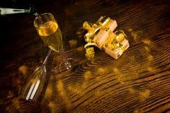 Champagne glasses still life Stock Image