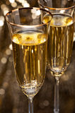 Champagne glasses with submerged ring Stock Image