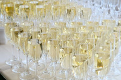 Champagne glasses on the table. Royalty Free Stock Photo