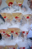 Champagne glasses tower Stock Image