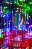 champagne glasses two Στοκ Εικόνες