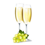 Champagne in glasses Royalty Free Stock Photos