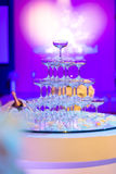 Champagne glasses in Wedding ceremony Royalty Free Stock Photos