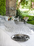 Champagne and glasses Royalty Free Stock Photography