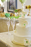 Champagne glasses for wedding toast Stock Photography