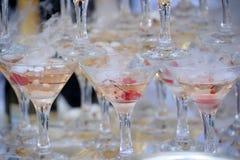 Champagne-Glasturm Lizenzfreie Stockfotos