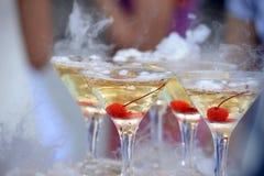 Champagne-Glasturm Lizenzfreies Stockfoto