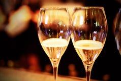 Champagne in glazen Royalty-vrije Stock Fotografie