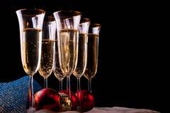 Champagne in glazen Royalty-vrije Stock Foto's