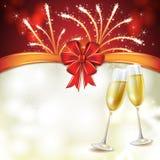 Champagne-glazen Stock Fotografie