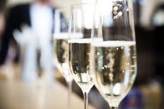 Champagne-glazen Royalty-vrije Stock Foto