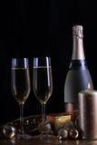 Champagne in glazen Stock Foto